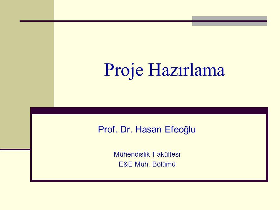 Prof. Dr. Hasan Efeoğlu Mühendislik Fakültesi E&E Müh. Bölümü