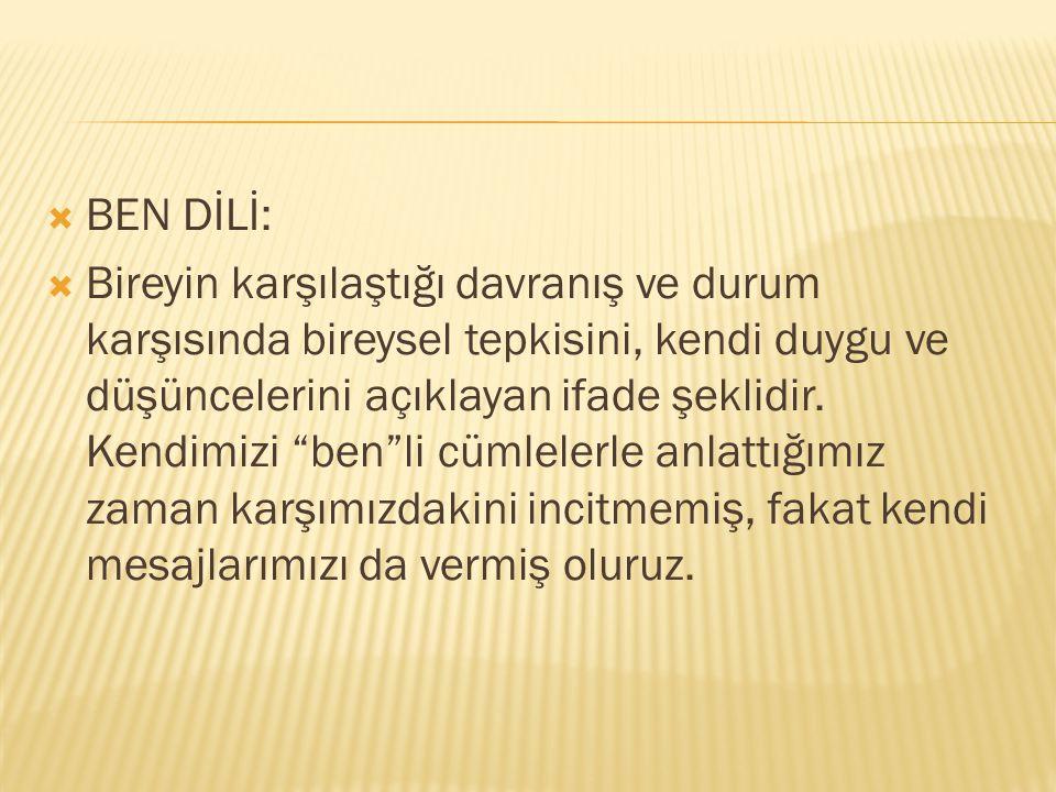 BEN DİLİ: