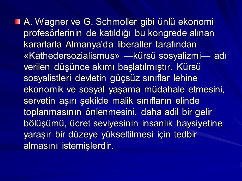 A. Wagner ve G.