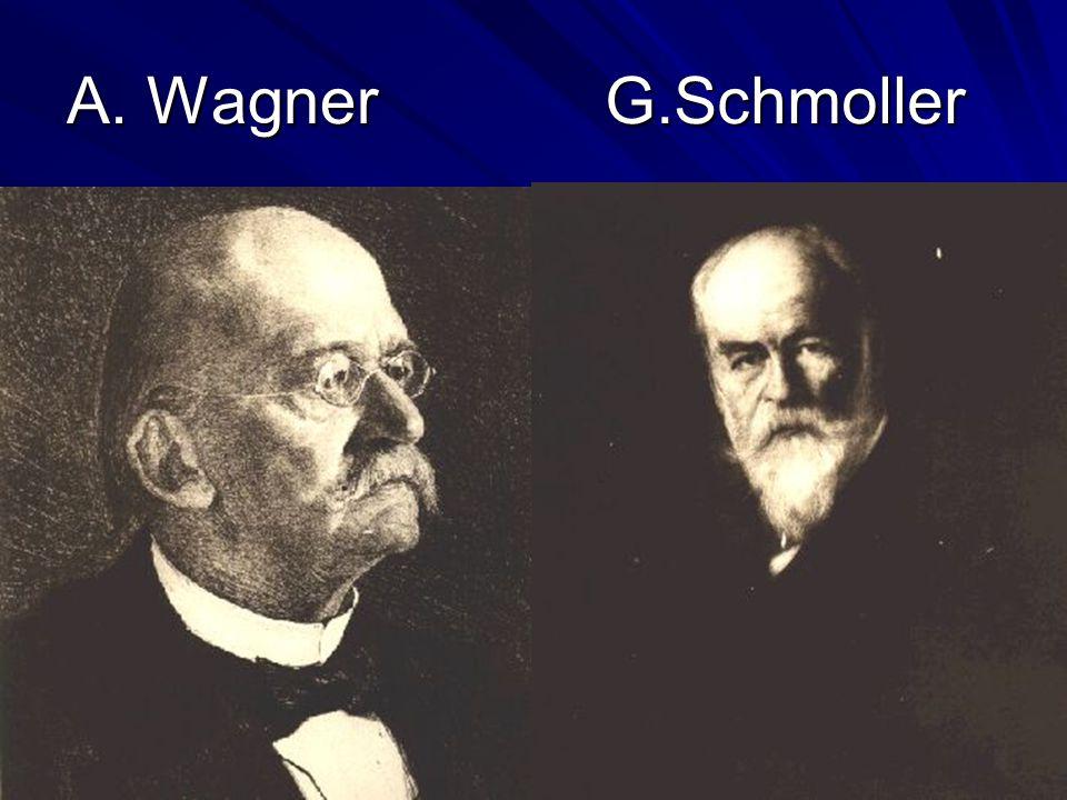 A. Wagner G.Schmoller
