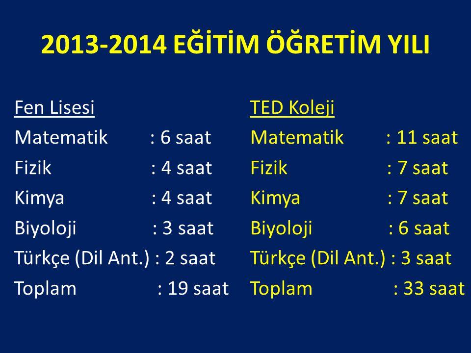 2013-2014 EĞİTİM ÖĞRETİM YILI