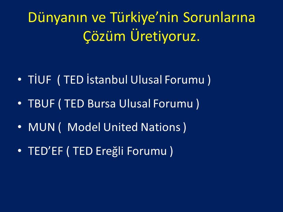 Dünyanın ve Türkiye'nin Sorunlarına Çözüm Üretiyoruz.