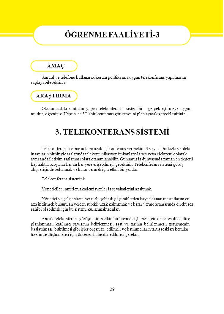 3. TELEKONFERANS SİSTEMİ