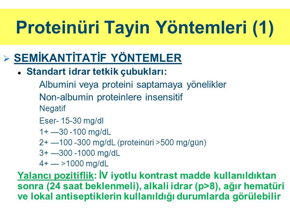 Proteinüri Tayin Yöntemleri (1)
