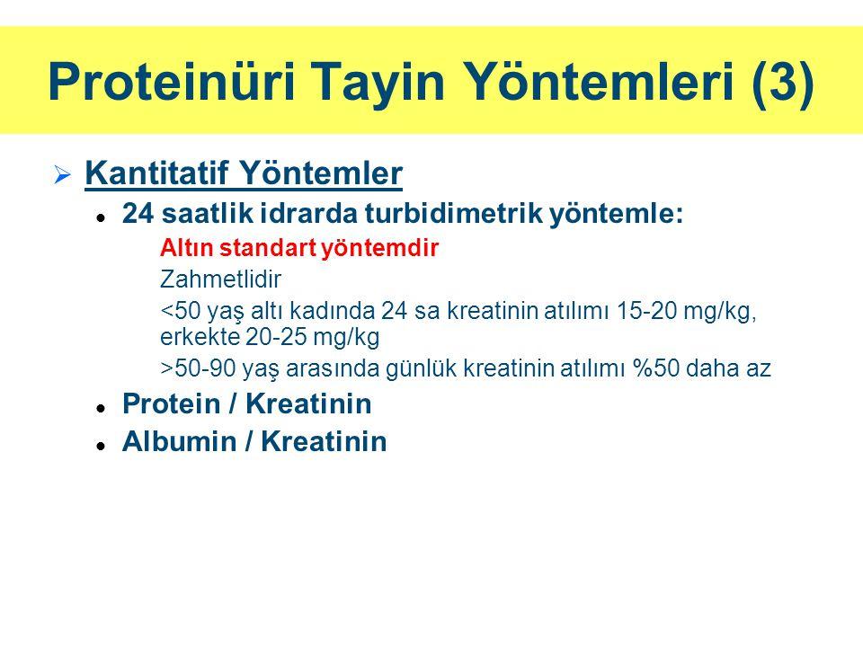 Proteinüri Tayin Yöntemleri (3)