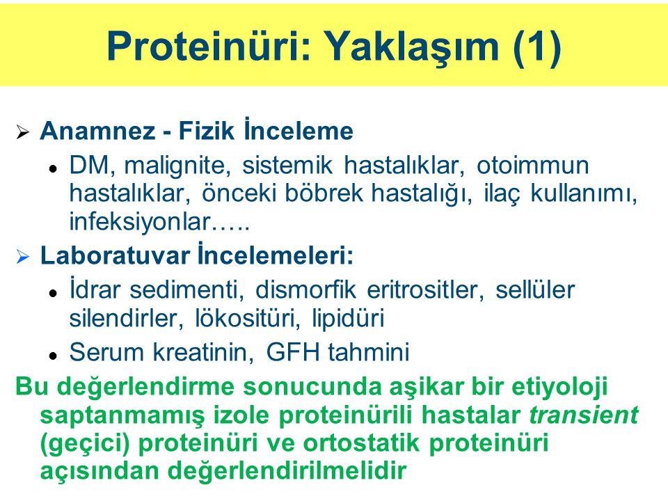 Proteinüri: Yaklaşım (1)
