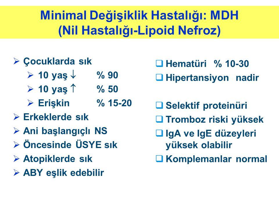 Minimal Değişiklik Hastalığı: MDH (Nil Hastalığı-Lipoid Nefroz)