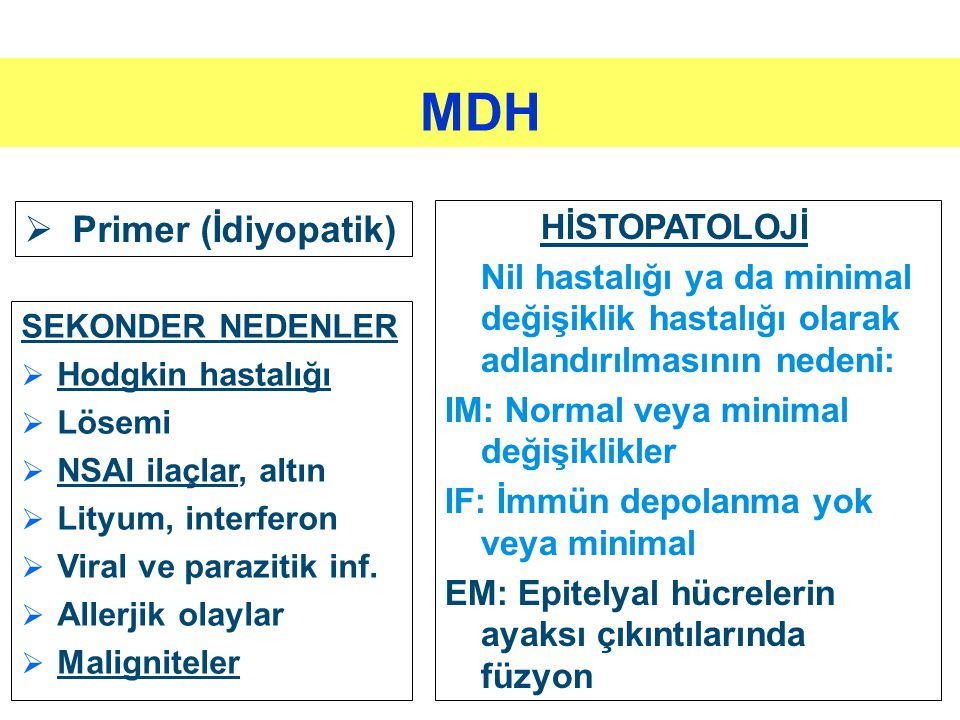 MDH Primer (İdiyopatik) HİSTOPATOLOJİ