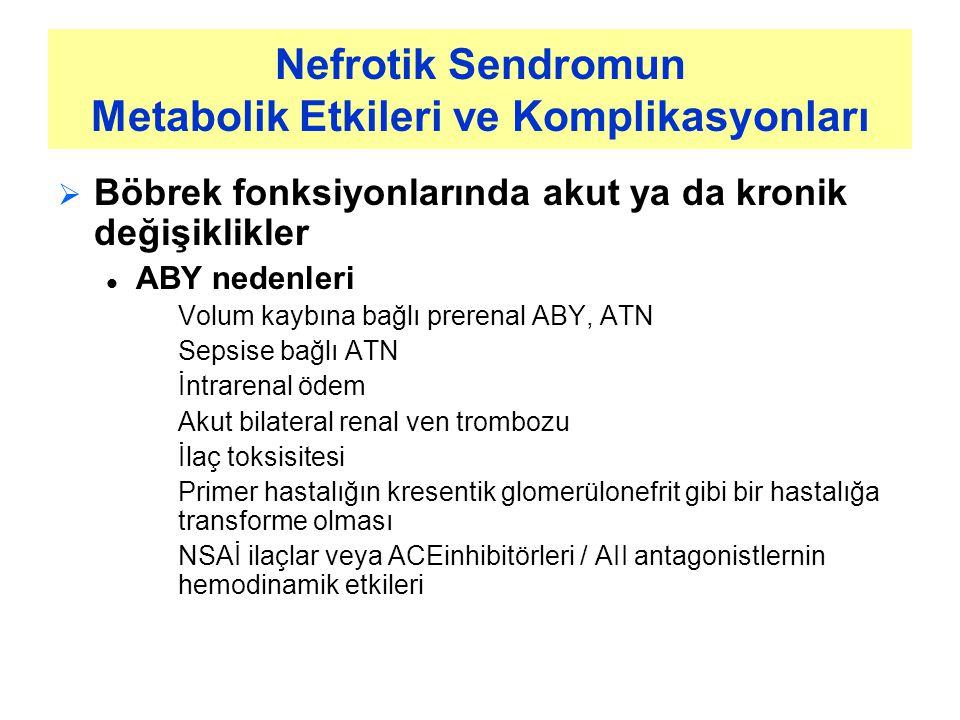 Nefrotik Sendromun Metabolik Etkileri ve Komplikasyonları