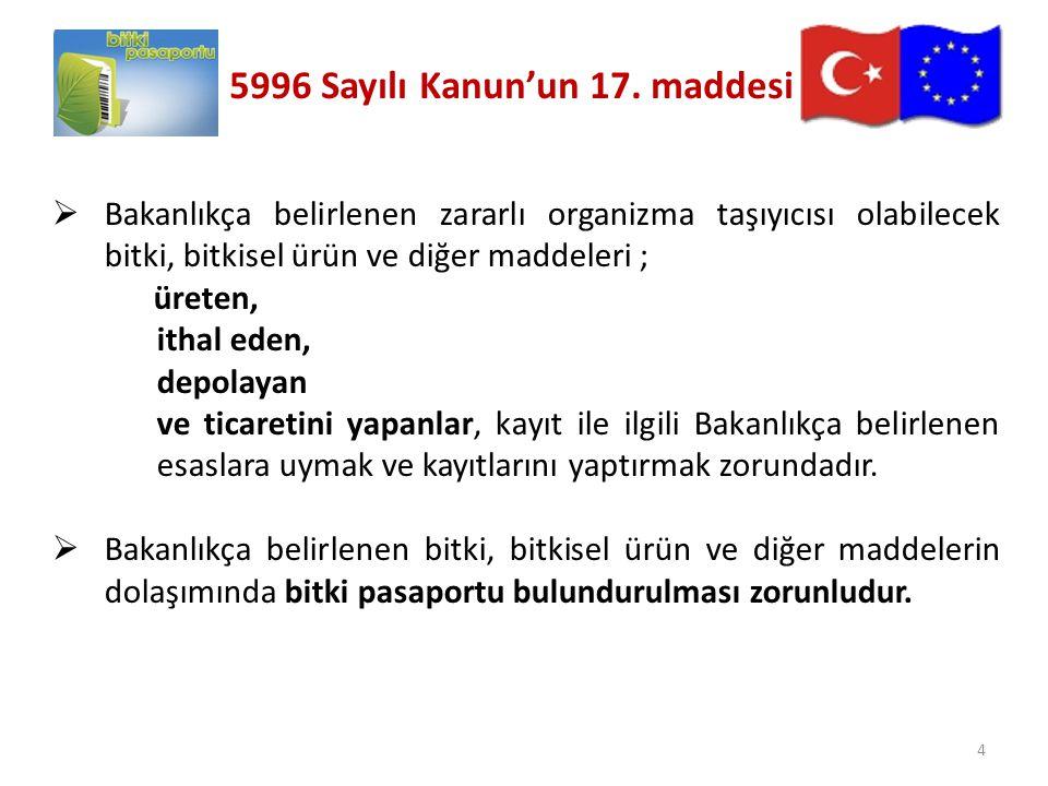 5996 Sayılı Kanun'un 17. maddesi