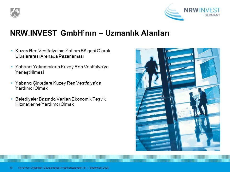 NRW.INVEST GmbH'nın – Uzmanlık Alanları