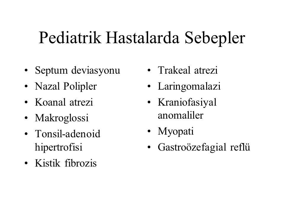 Pediatrik Hastalarda Sebepler