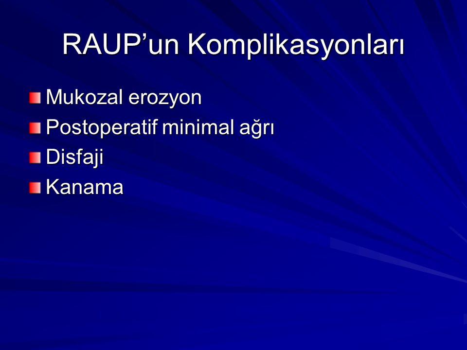 RAUP'un Komplikasyonları