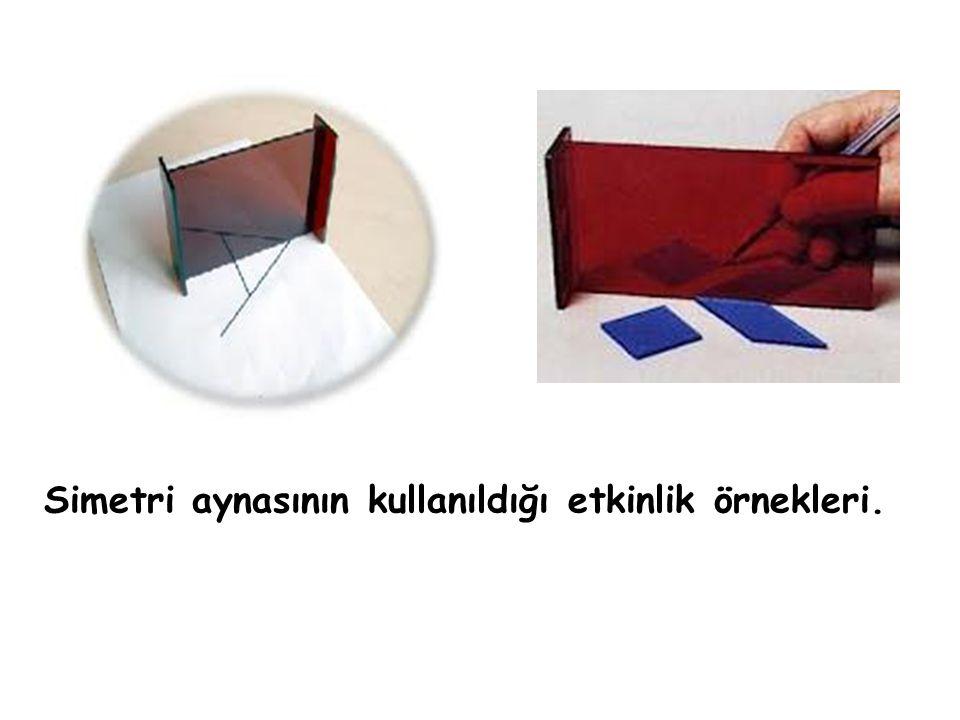 Simetri aynasının kullanıldığı etkinlik örnekleri.