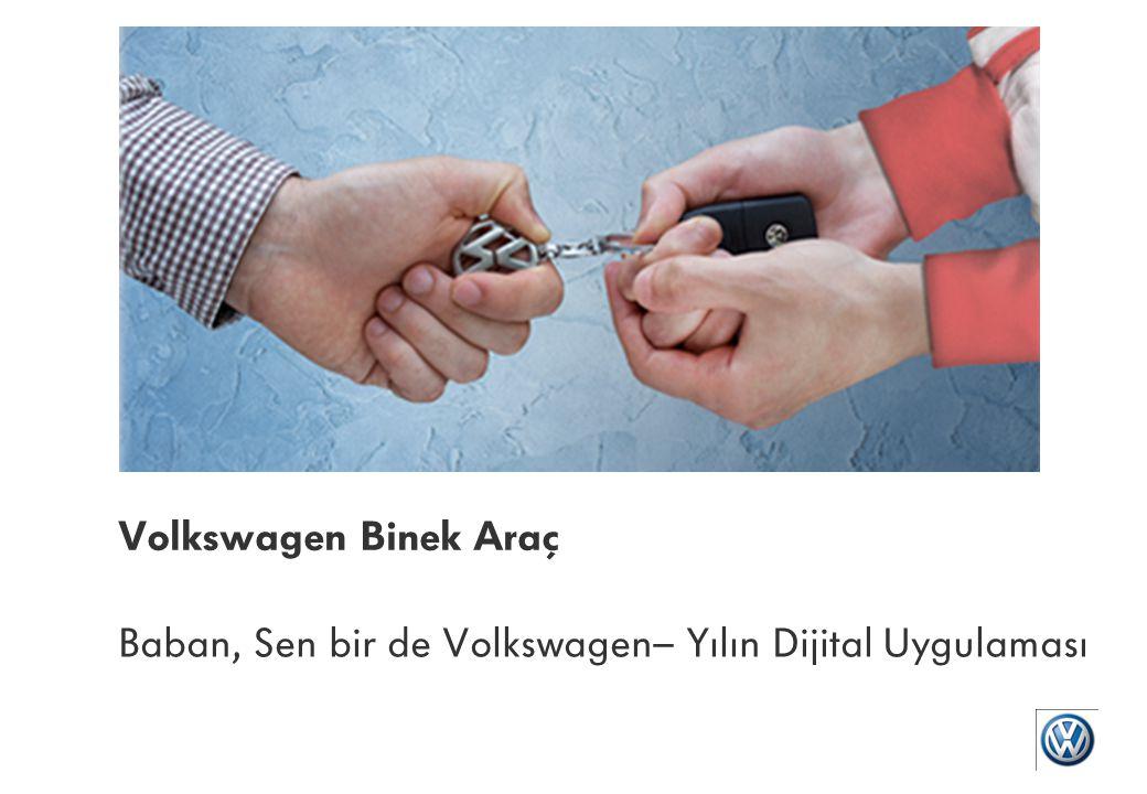 Baban, Sen bir de Volkswagen– Yılın Dijital Uygulaması