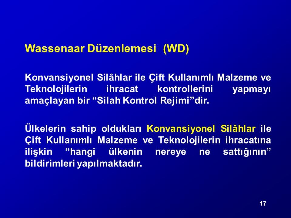 Wassenaar Düzenlemesi (WD)