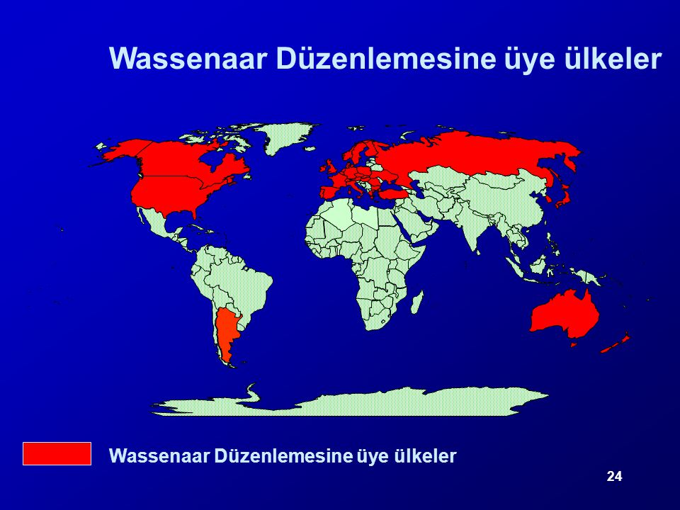Wassenaar Düzenlemesine üye ülkeler