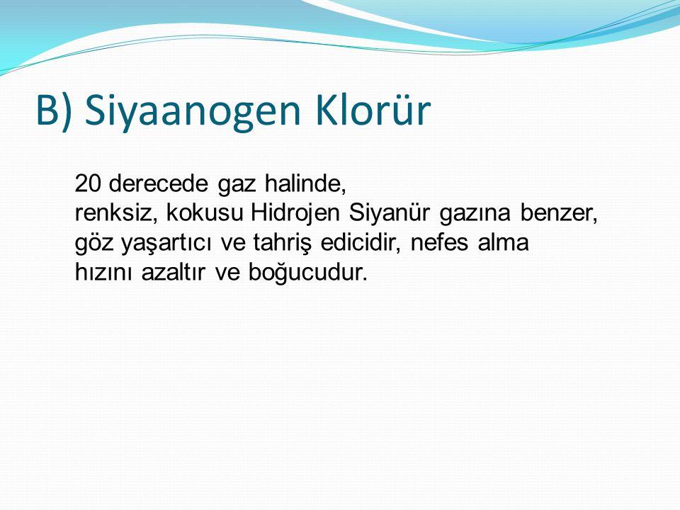 B) Siyaanogen Klorür