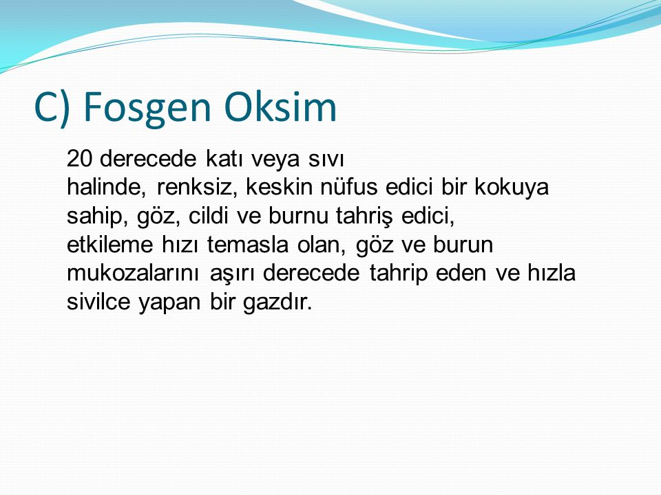 C) Fosgen Oksim