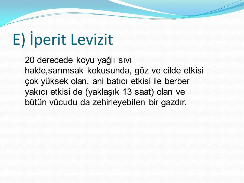 E) İperit Levizit