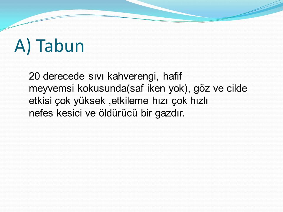 A) Tabun