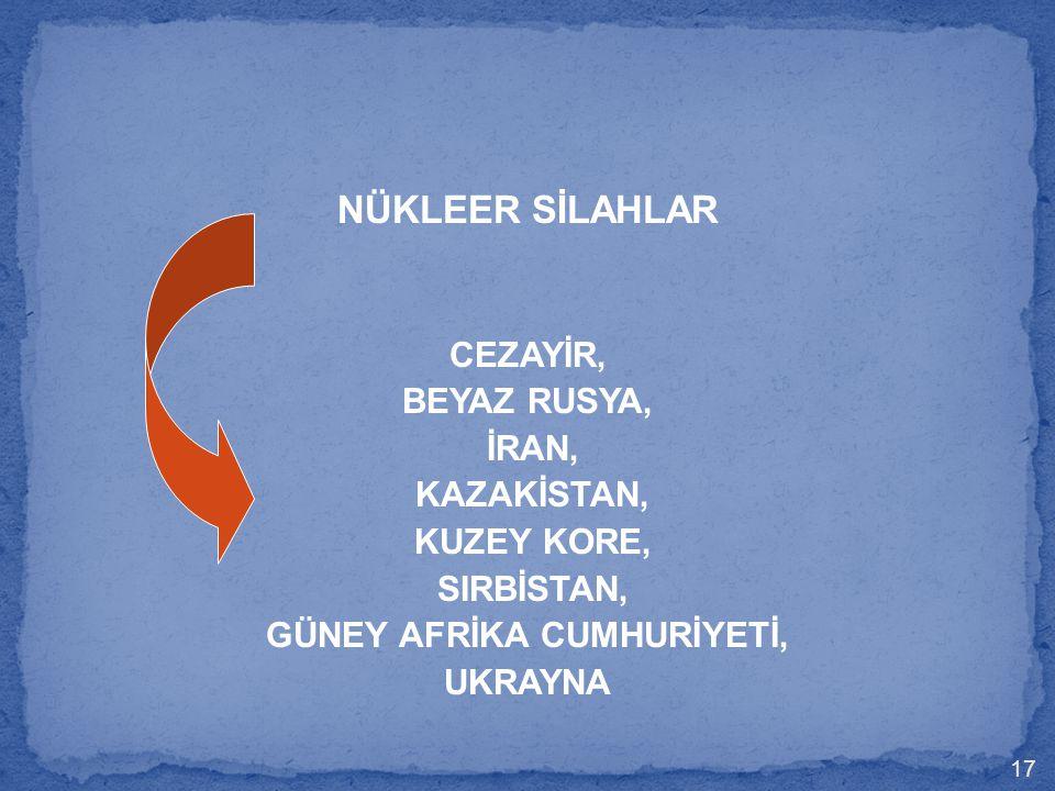 GÜNEY AFRİKA CUMHURİYETİ,