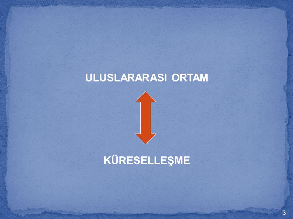 ULUSLARARASI ORTAM KÜRESELLEŞME