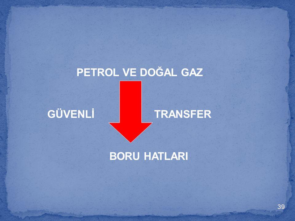 PETROL VE DOĞAL GAZ GÜVENLİ TRANSFER BORU HATLARI