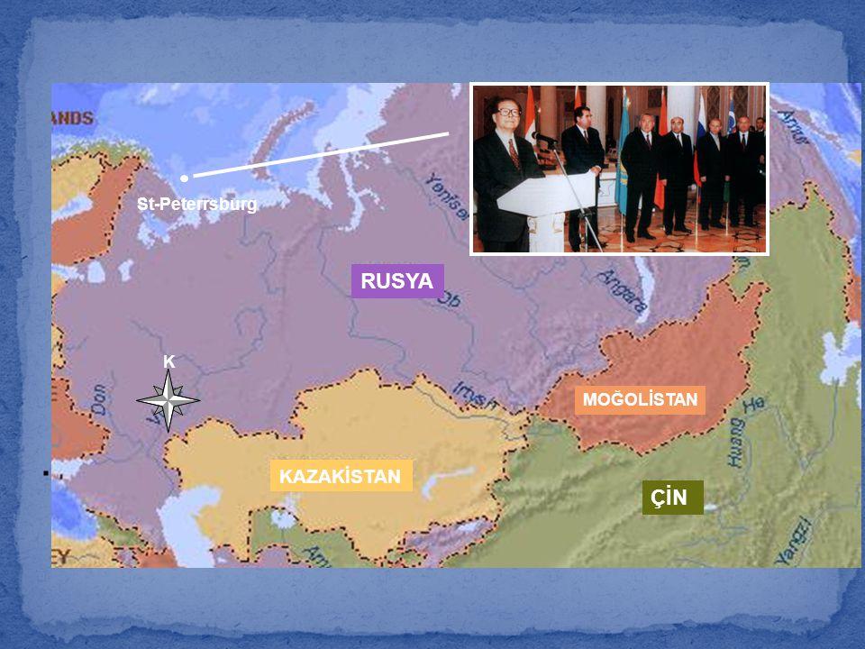 St-Peterrsburg RUSYA K MOĞOLİSTAN . KAZAKİSTAN ÇİN 55
