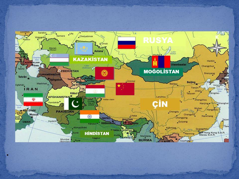 RUSYA RUSSIA K KAZAKİSTAN Ö MOĞOLİSTAN ÇİN HİNDİSTAN . 59