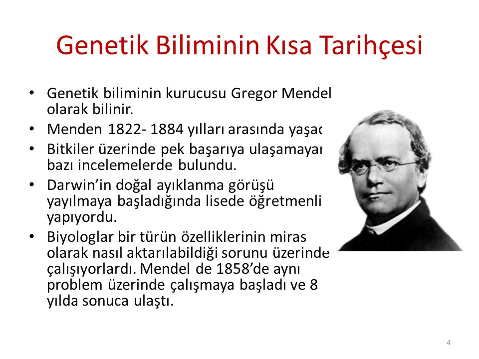 Genetik Biliminin Kısa Tarihçesi