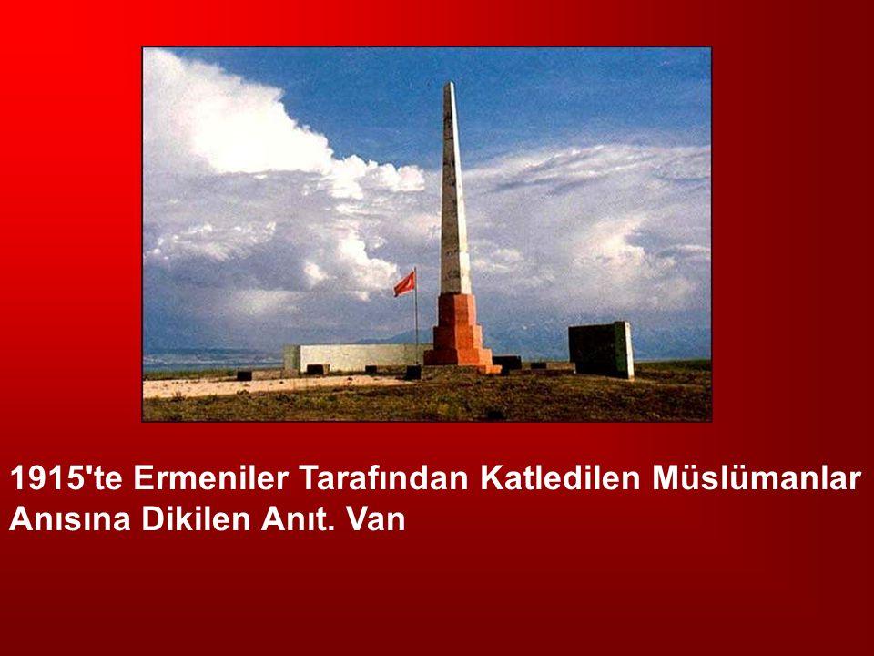 1915 te Ermeniler Tarafından Katledilen Müslümanlar Anısına Dikilen Anıt. Van
