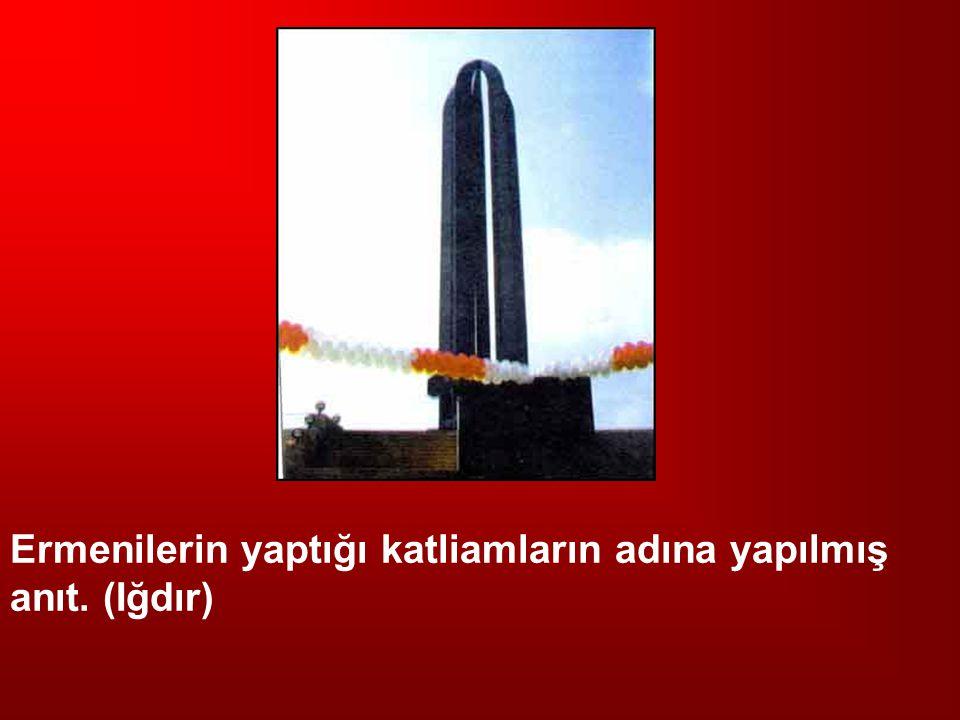 Ermenilerin yaptığı katliamların adına yapılmış anıt. (Iğdır)