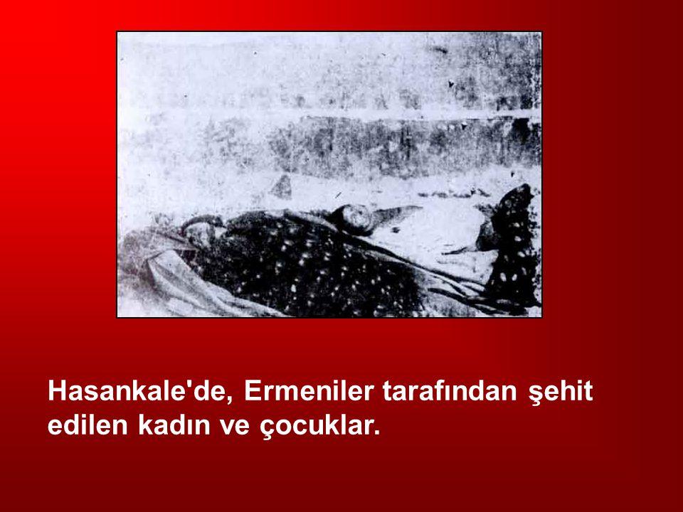 Hasankale de, Ermeniler tarafından şehit edilen kadın ve çocuklar.