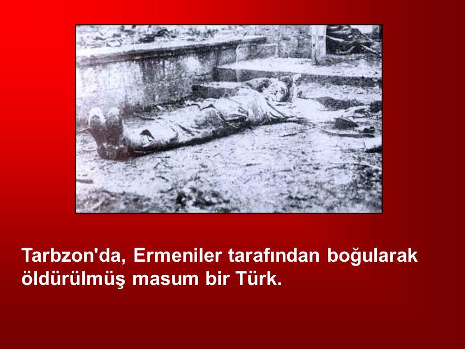 Tarbzon da, Ermeniler tarafından boğularak öldürülmüş masum bir Türk.
