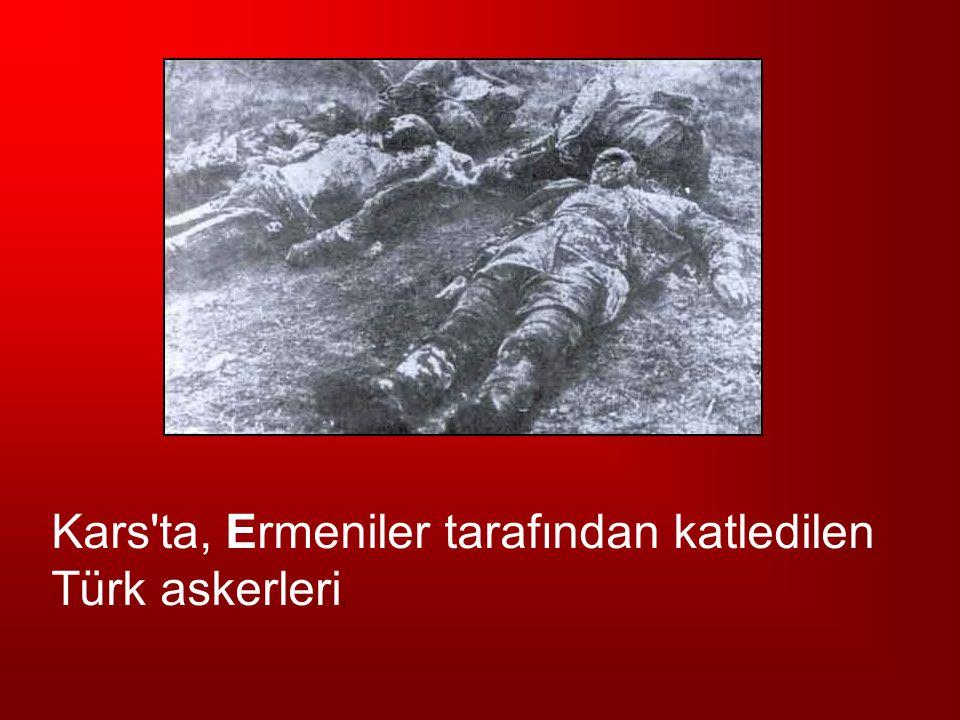 Kars ta, Ermeniler tarafından katledilen
