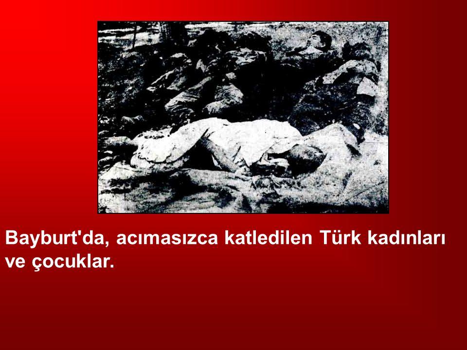 Bayburt da, acımasızca katledilen Türk kadınları ve çocuklar.