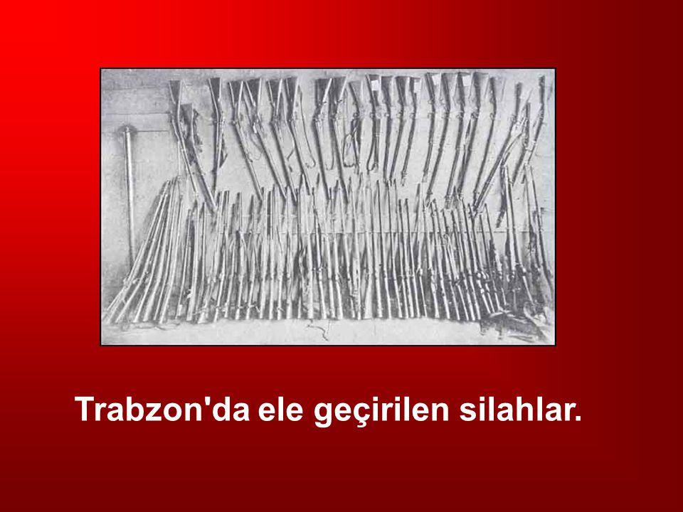 Trabzon da ele geçirilen silahlar.