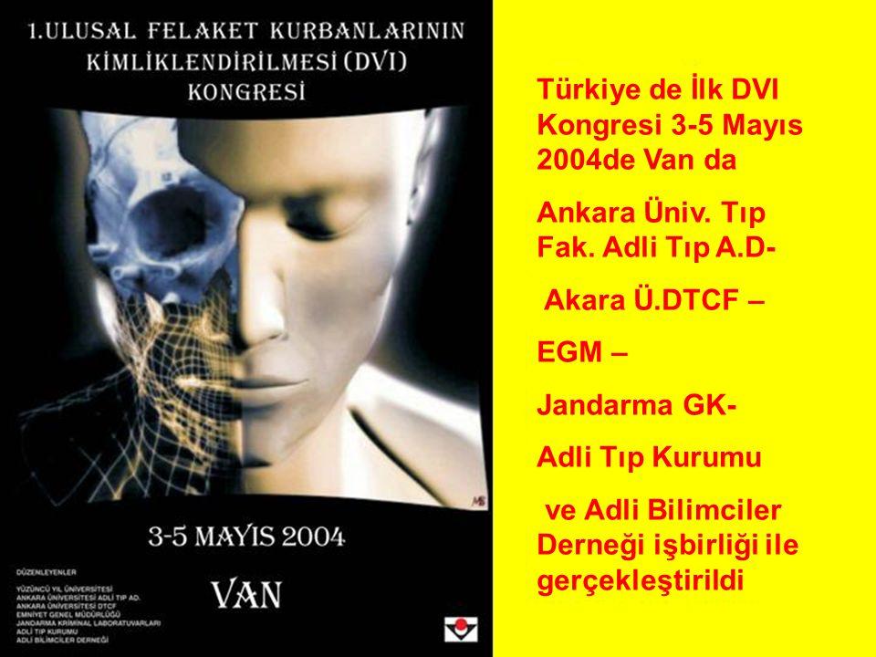 Türkiye de İlk DVI Kongresi 3-5 Mayıs 2004de Van da