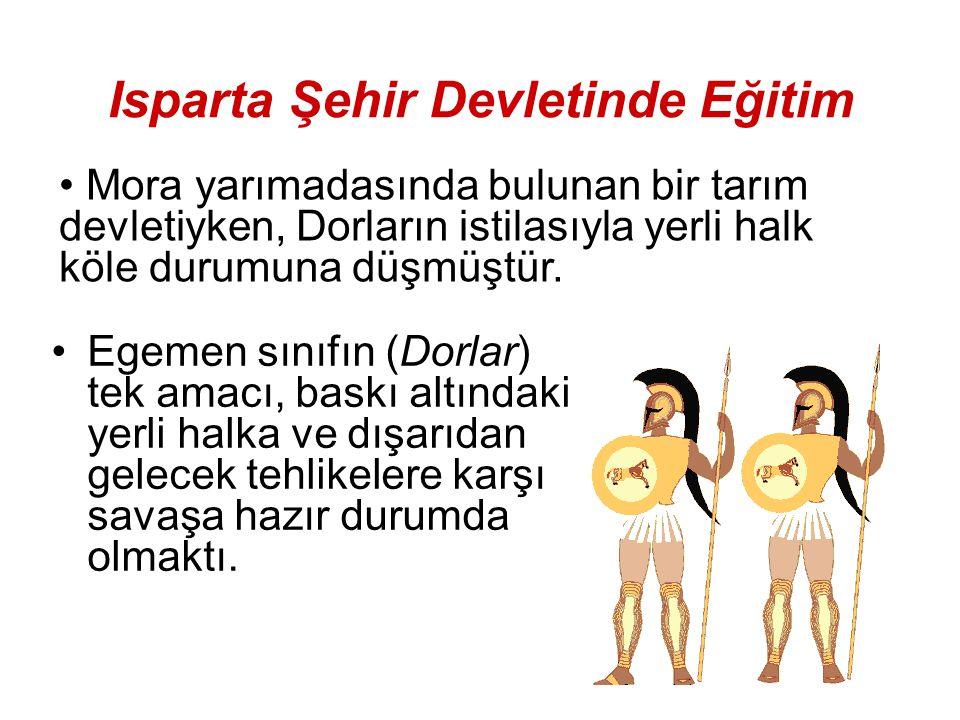 Isparta Şehir Devletinde Eğitim