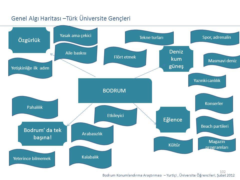 Genel Algı Haritası –Türk Üniversite Gençleri