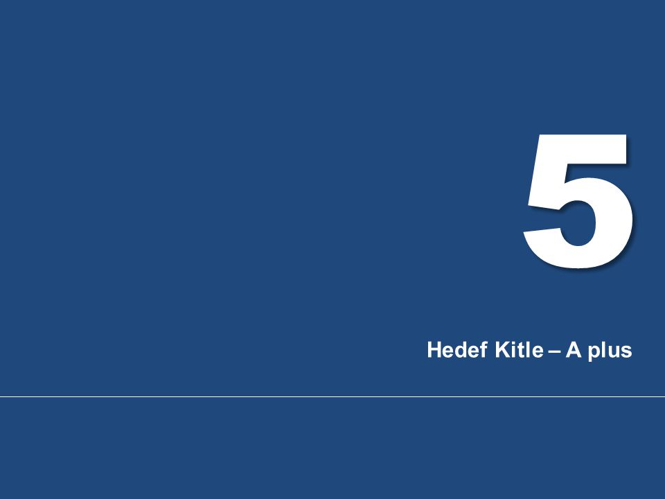 5 Hedef Kitle – A plus