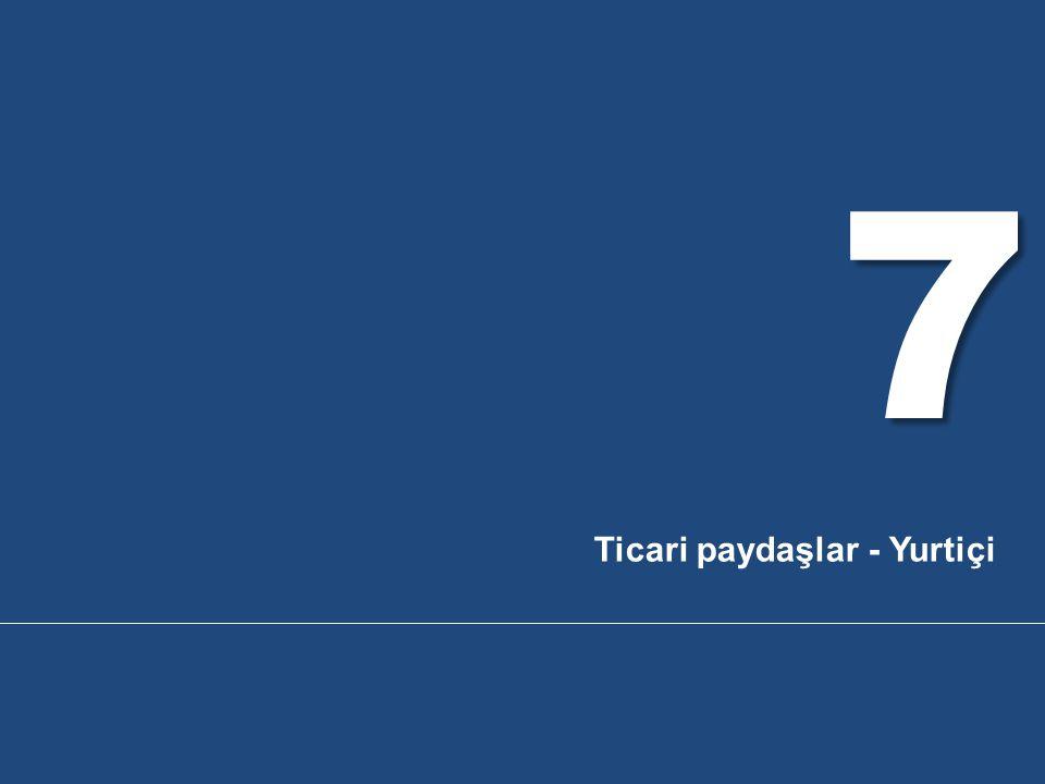 7 Ticari paydaşlar - Yurtiçi