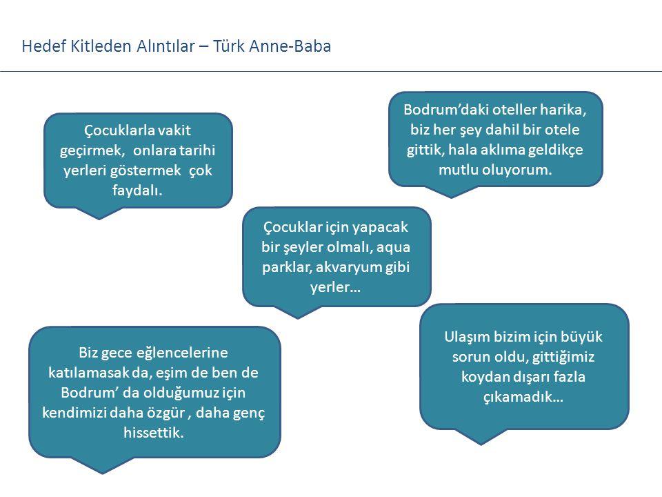 Hedef Kitleden Alıntılar – Türk Anne-Baba