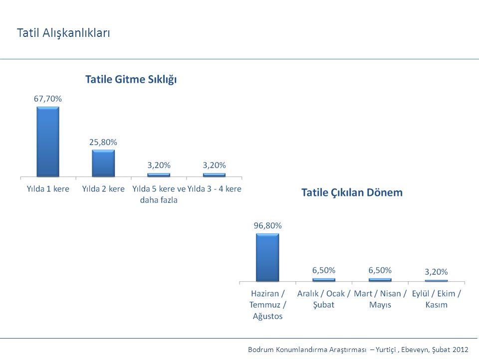 Tatil Alışkanlıkları Bodrum Konumlandırma Araştırması – Yurtiçi , Ebeveyn, Şubat 2012