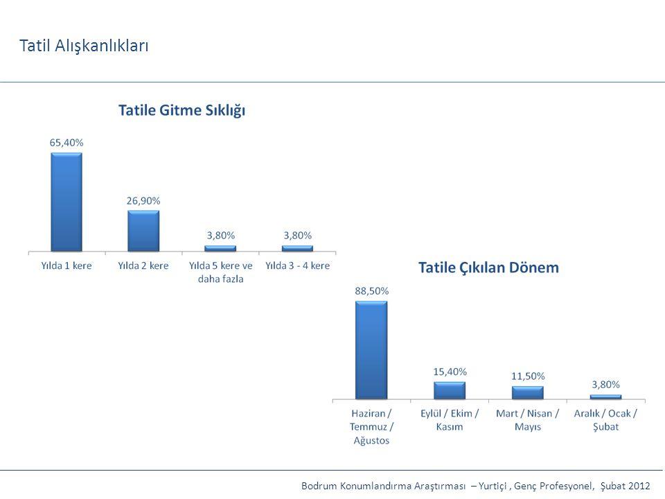 Tatil Alışkanlıkları Bodrum Konumlandırma Araştırması – Yurtiçi , Genç Profesyonel, Şubat 2012