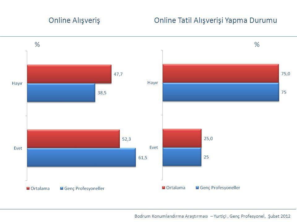 Online Tatil Alışverişi Yapma Durumu