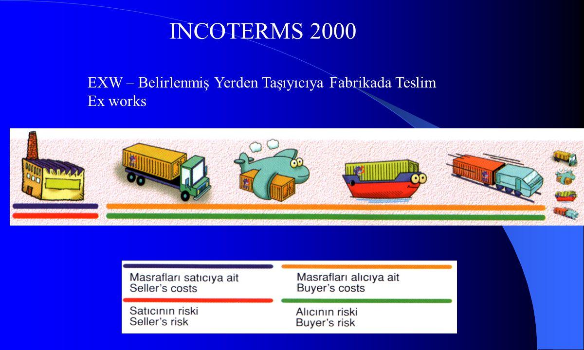 INCOTERMS 2000 EXW – Belirlenmiş Yerden Taşıyıcıya Fabrikada Teslim