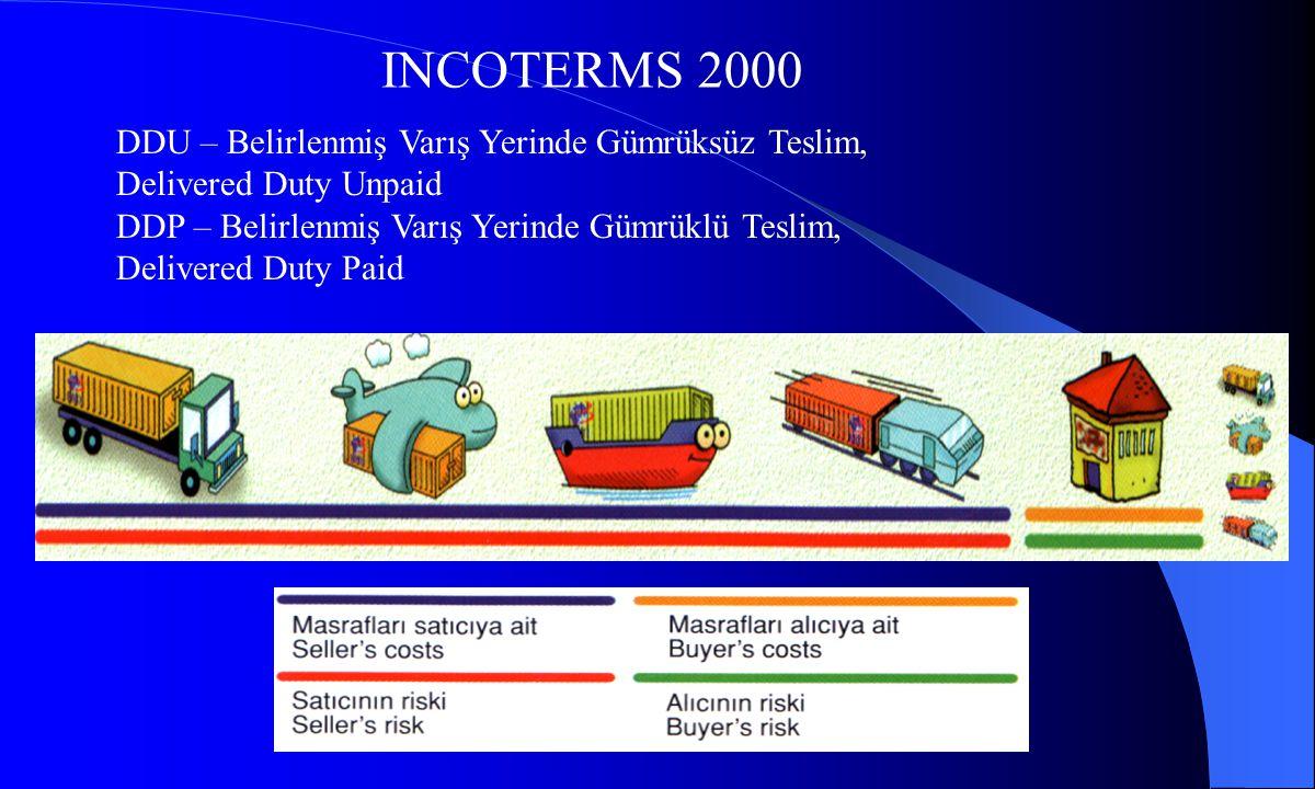 INCOTERMS 2000 DDU – Belirlenmiş Varış Yerinde Gümrüksüz Teslim,