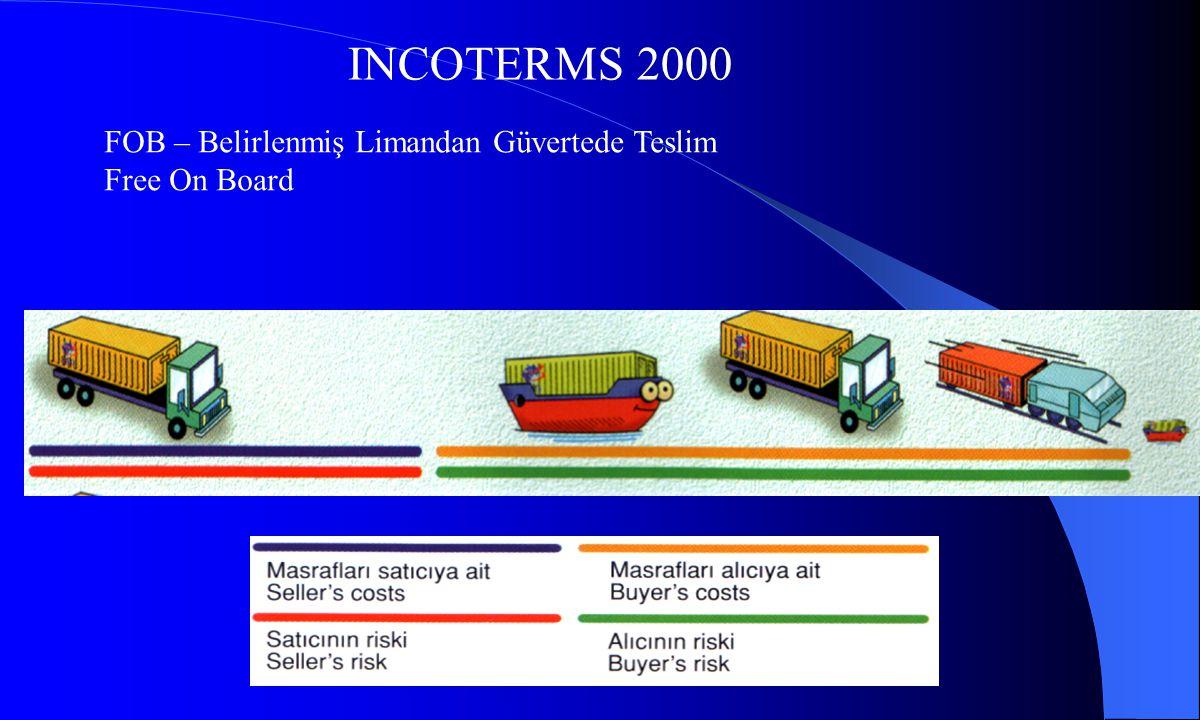 INCOTERMS 2000 FOB – Belirlenmiş Limandan Güvertede Teslim